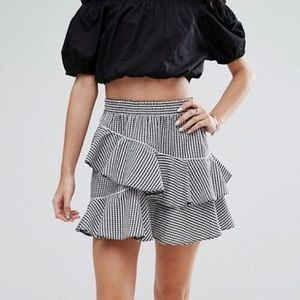 ASOS Gingham Mini Skirt size 6